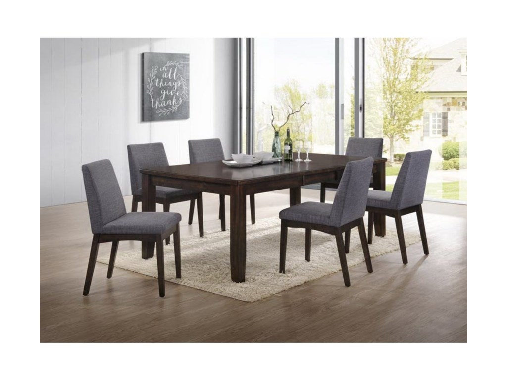 Elements international piper modern table and chair set