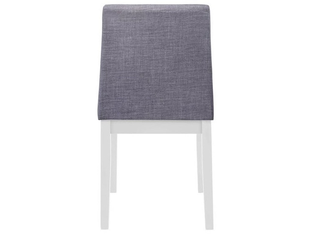 Elements International Piper WhiteTable and Chair Set