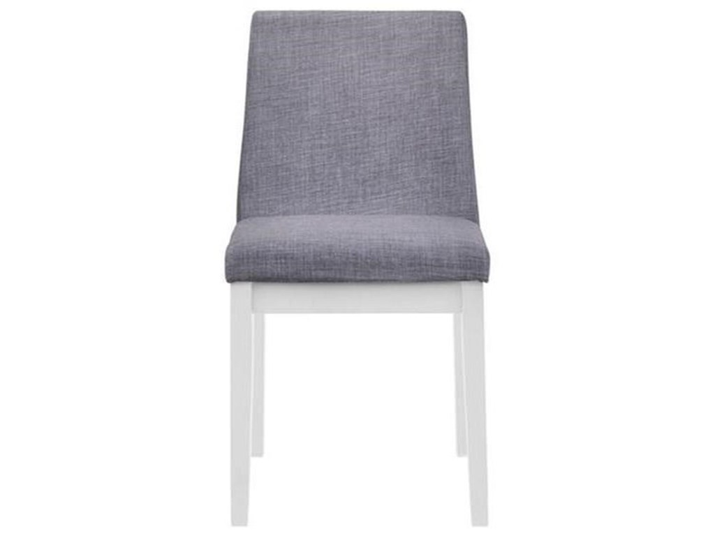 Elements International Piper WhiteDining Side Chair