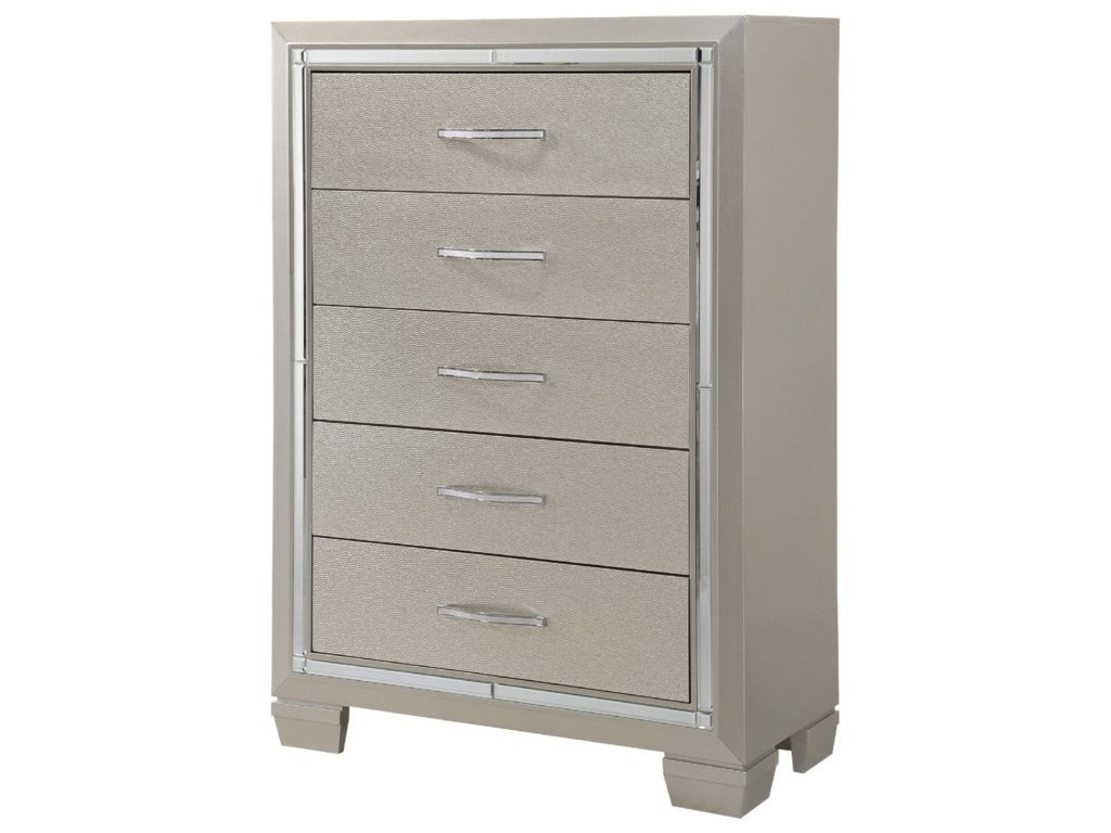 Elements International PlatinumChest of Drawers