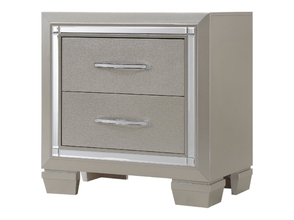 Elements International PlatinumNightstand