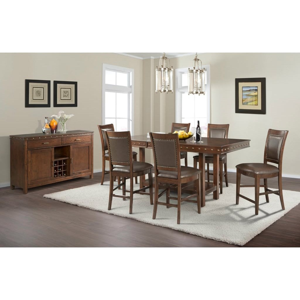 Elements International Prescott Counter Height Dining Room Group