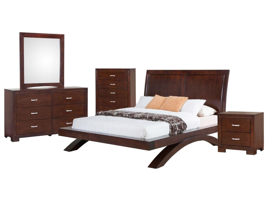 Raven 5-Piece King Bedroom Set by Elements at Royal Furniture