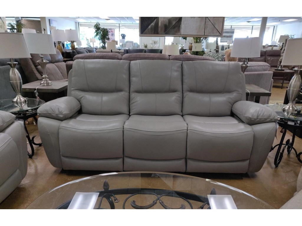Elements International USV3245Leather Reclining Sofa