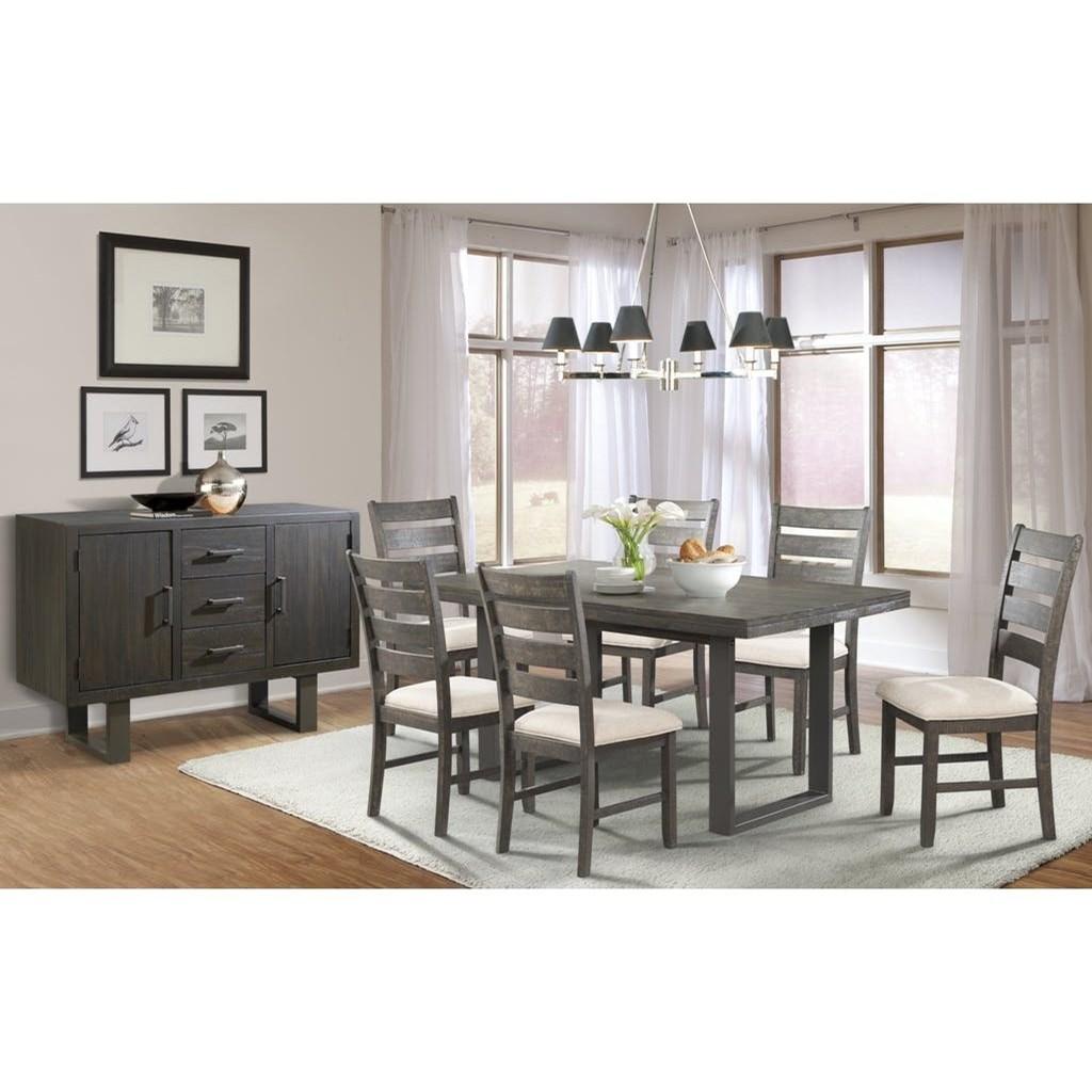 Merveilleux Elements International SawyerDining Group With Six Chairs ...
