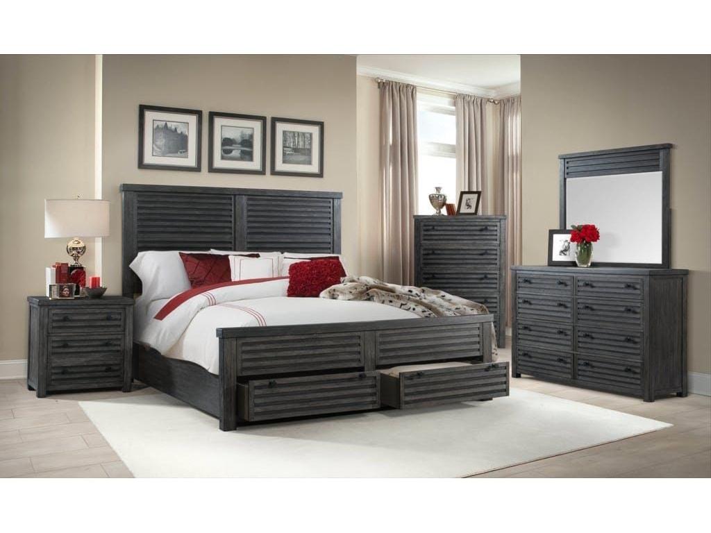 Elements International Shary LaneQueen Storage Bed