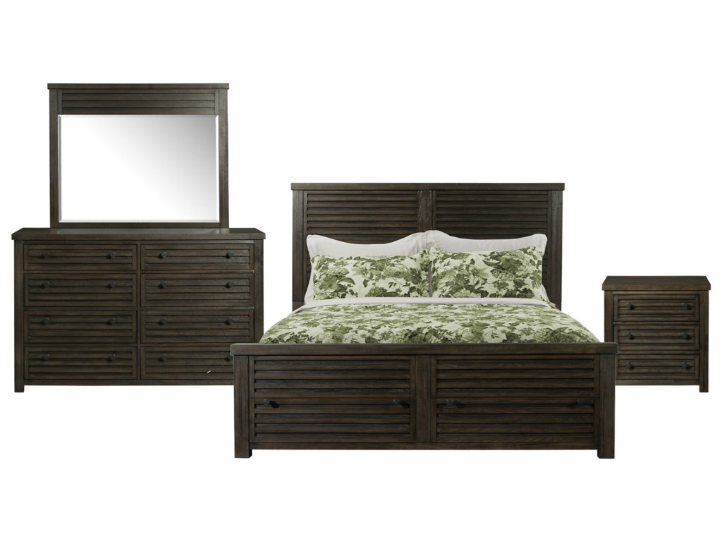 Shelter Bay 4-Piece Queen Bedroom Set by Elements at Royal Furniture