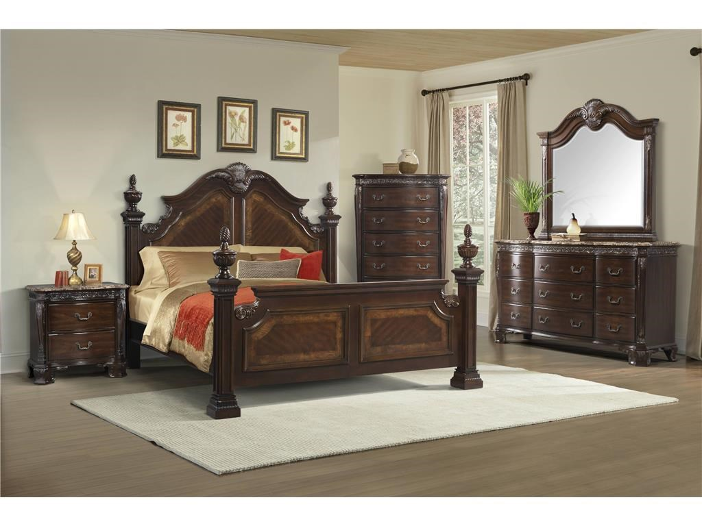 Elements International Southern BelleQueen Bedroom Group