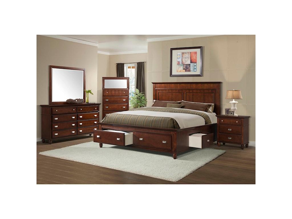 Elements International SpencerFull Storage Bedroom Group