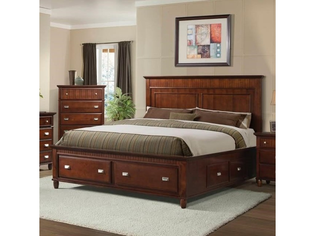 Elements International SpencerFull Storage Bed