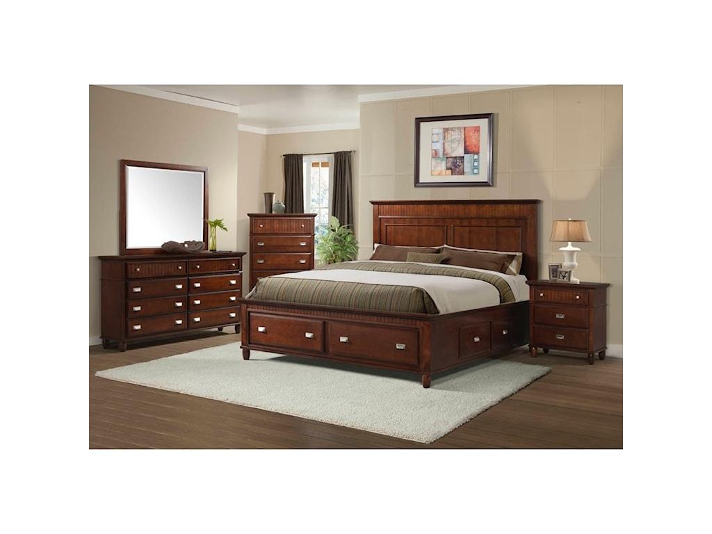 Elements International SpencerTwin Storage Bed