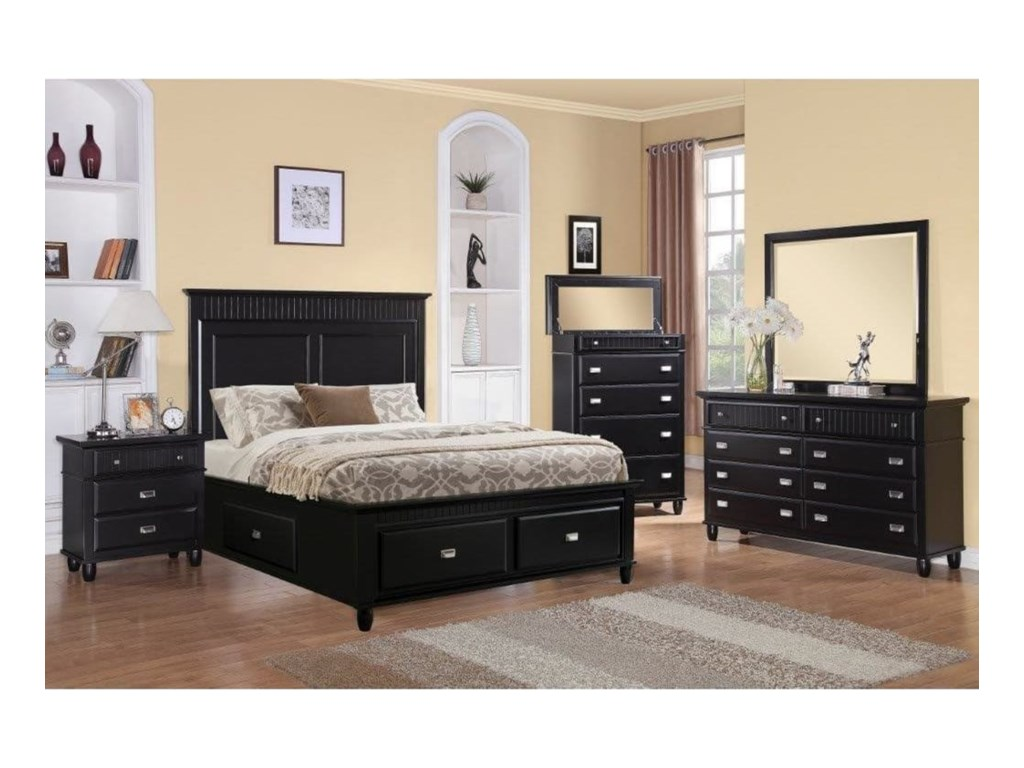 Elements International SpencerTwin Storage Bedroom Group