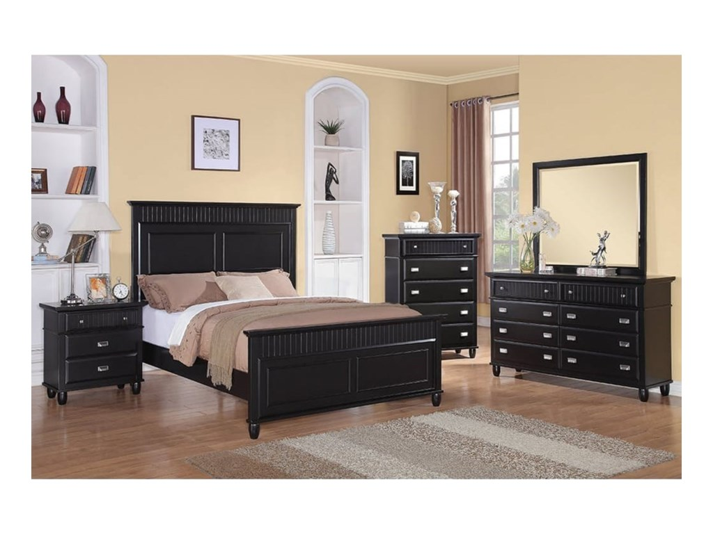 Elements International SpencerKing Panel Wood Bed