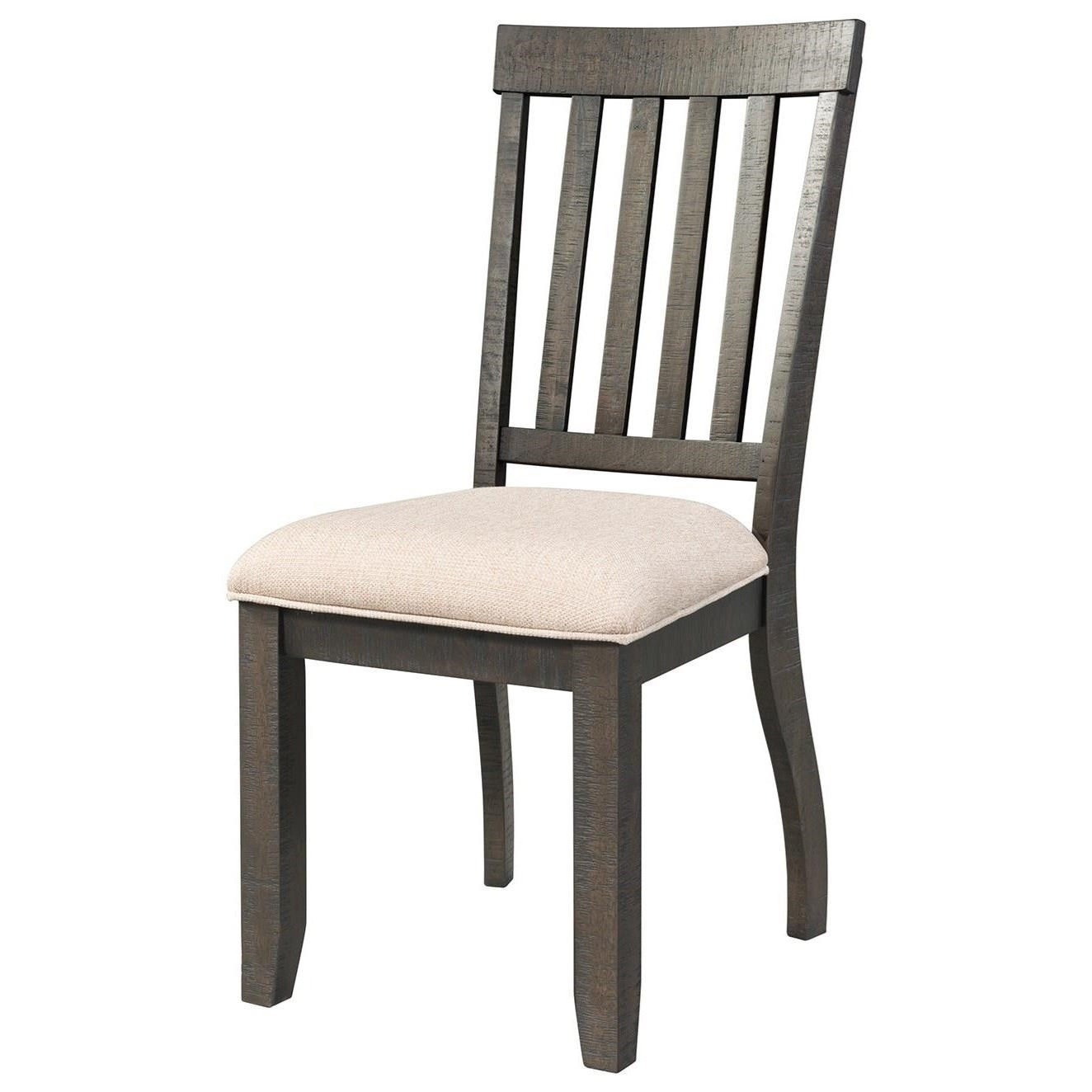 Elements International Stone Slat Back Side Chair   John V Schultz Furniture    Dining Side Chairs