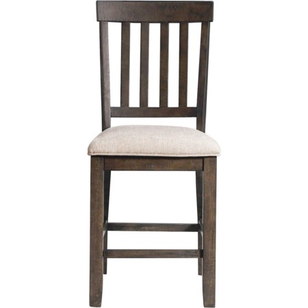 Counter Dining Chair Slat Back Set