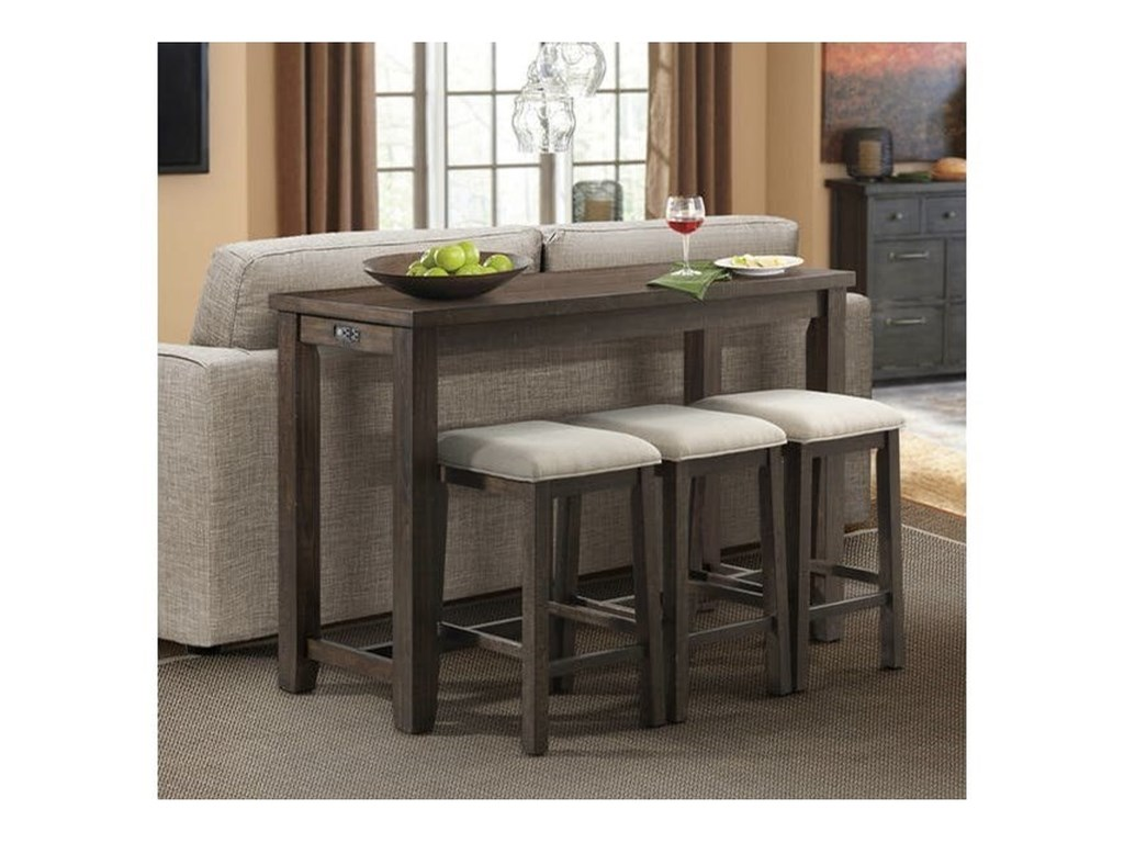Stone Counter Height Bar Table Set