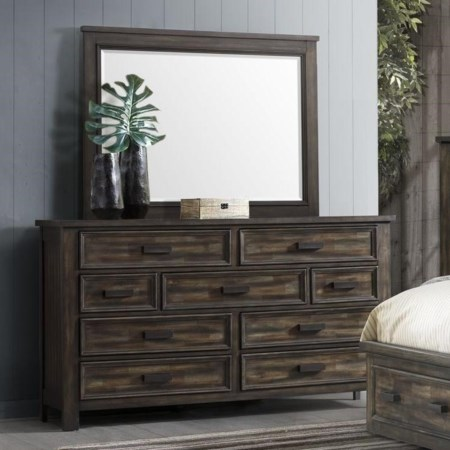 9-Drawer Dresser and Mirror Set