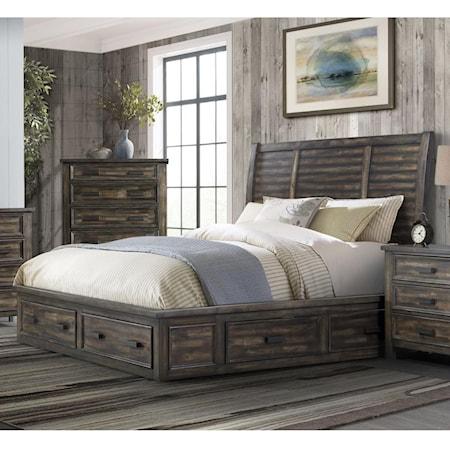 Queen 4-Drawer Platform Storage Bed