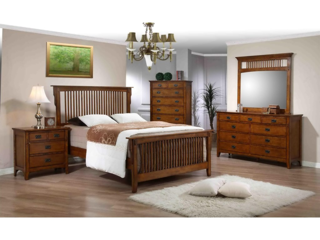Shown in Room Setting with Slat Bed