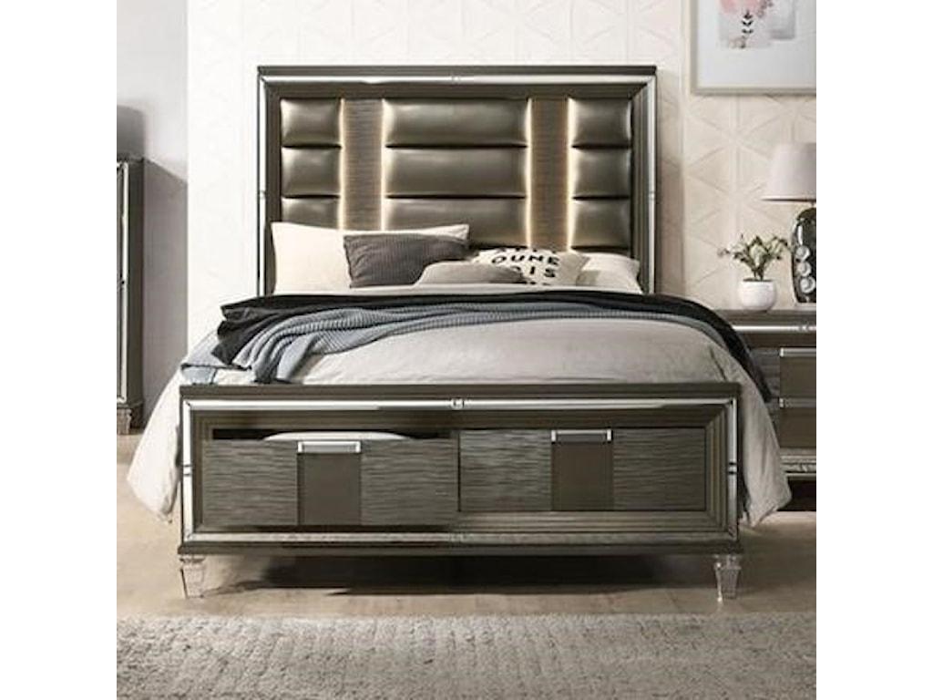 Elements International Twenty NineKing Low Profile Bed