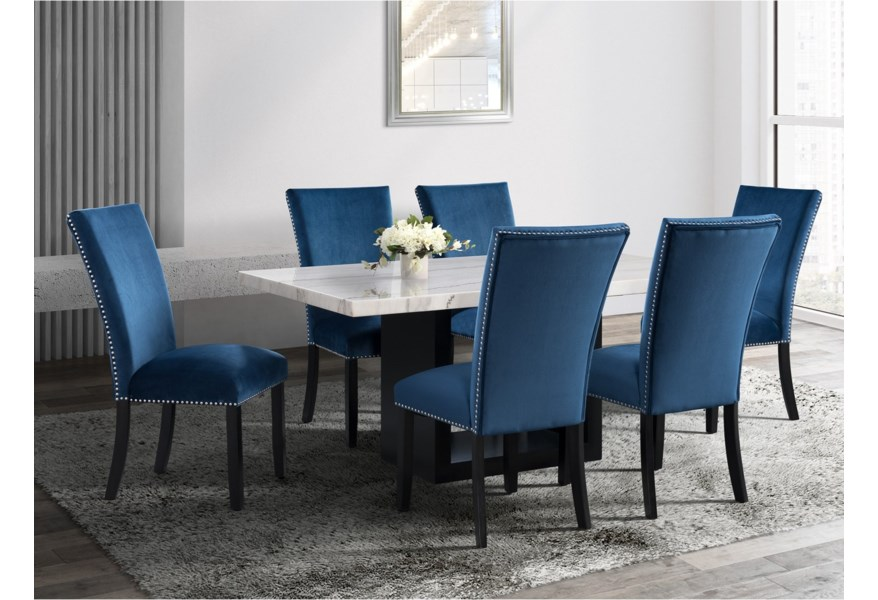 Valentino Contemporary Rectangular Marble Dining Table Dream Home Interiors Dining Tables