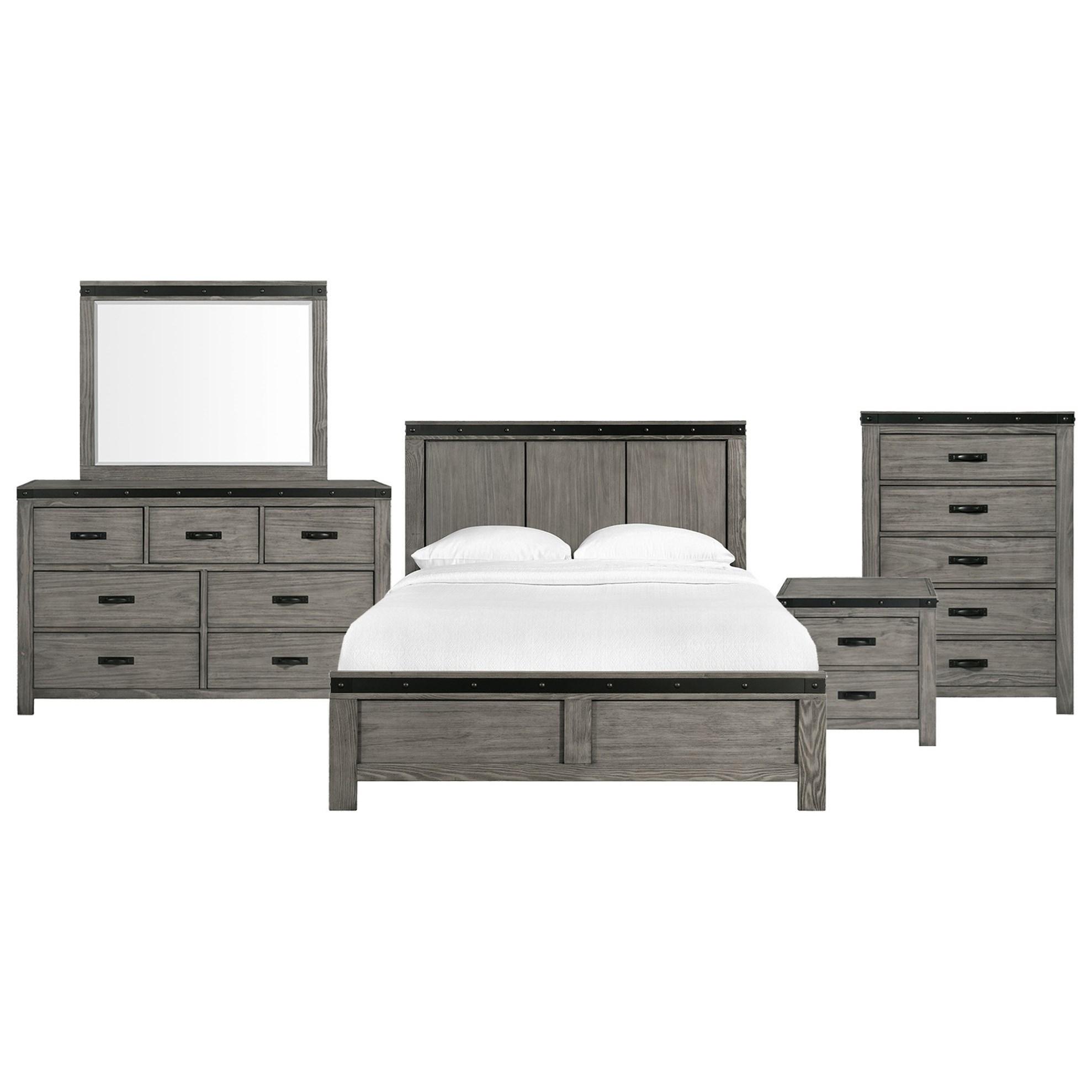 Wade King Panel 5 Piece Bedroom Set