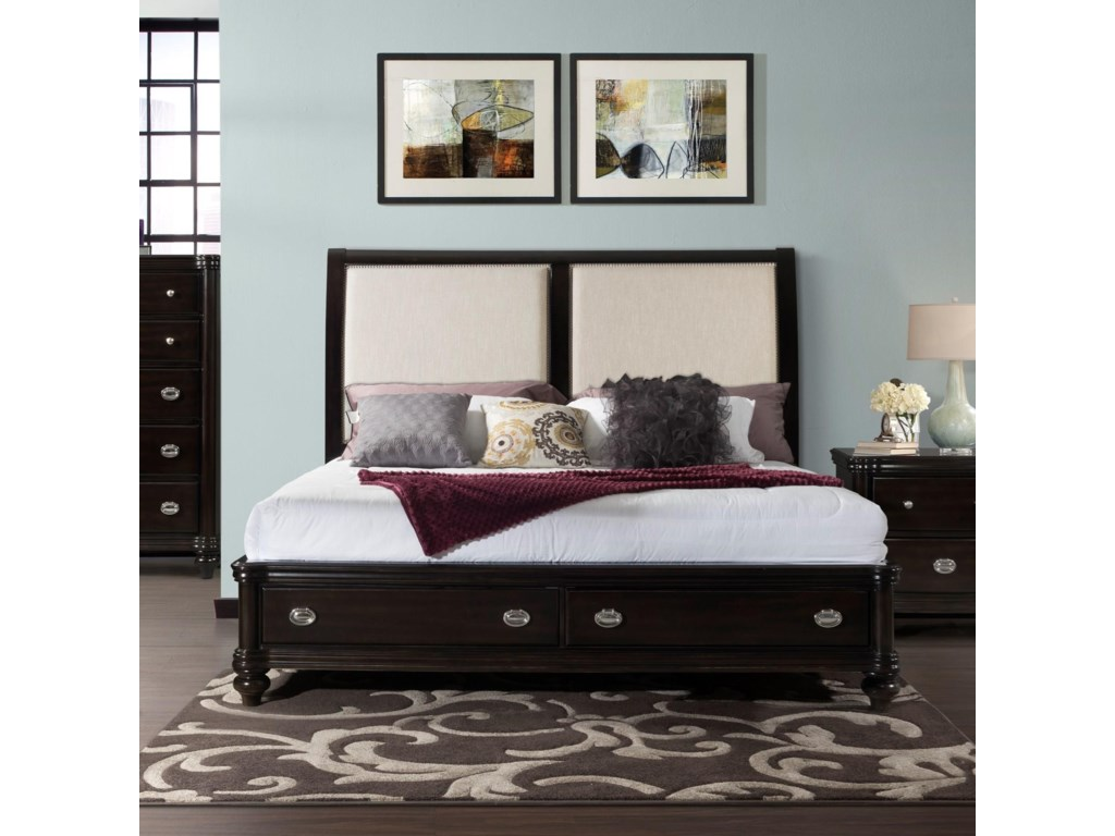 Elements International WestburyKing Bed Set