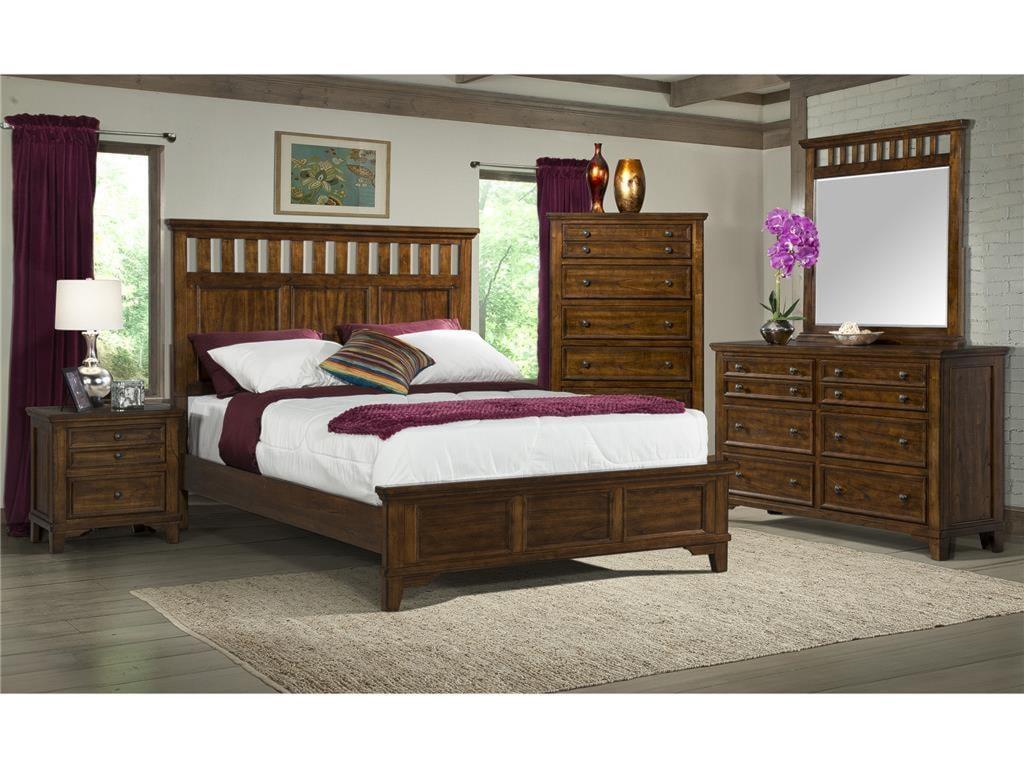 Elements International WoodlandsKing Bedroom Group