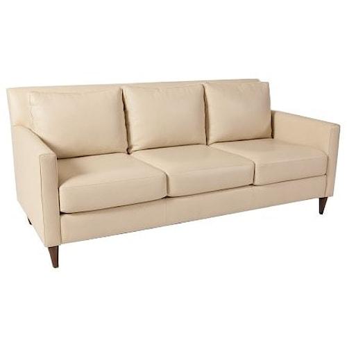 Elite Leather Aero Sofa With Track Arms Summerhome Furniture