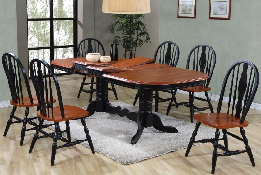 Dining Sets Oval Double Pedestal Dining Table With Double