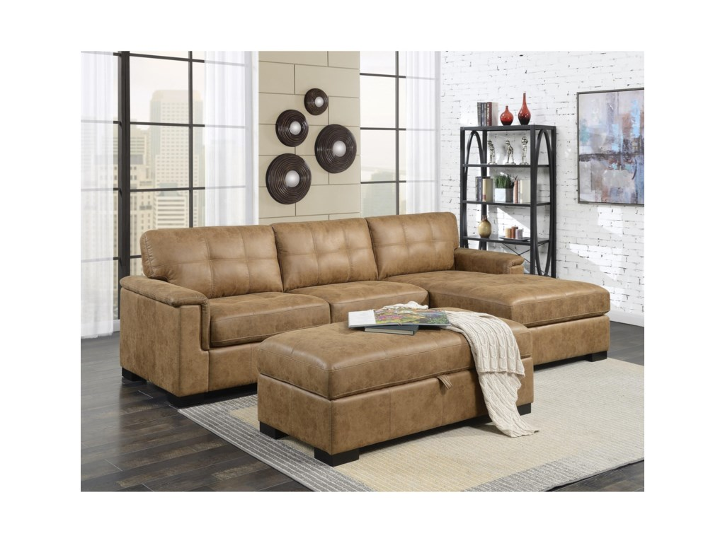 Emerald AbbottSectional Sofa with Chaise
