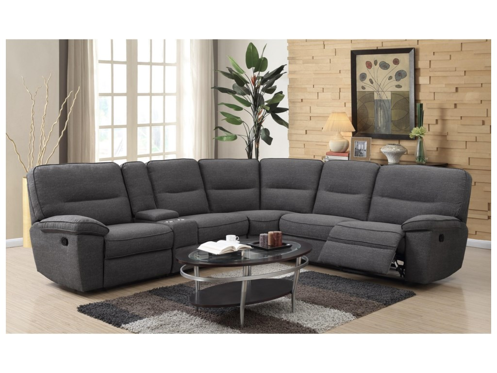 Emerald AlbertaReclining Sectional Sofa