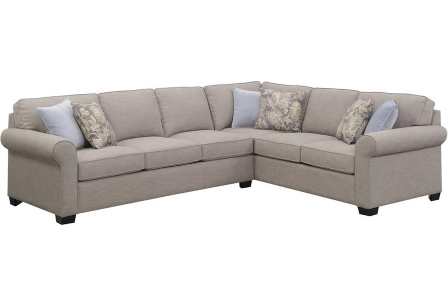 34 12 05 K Transitional Sectional Queen