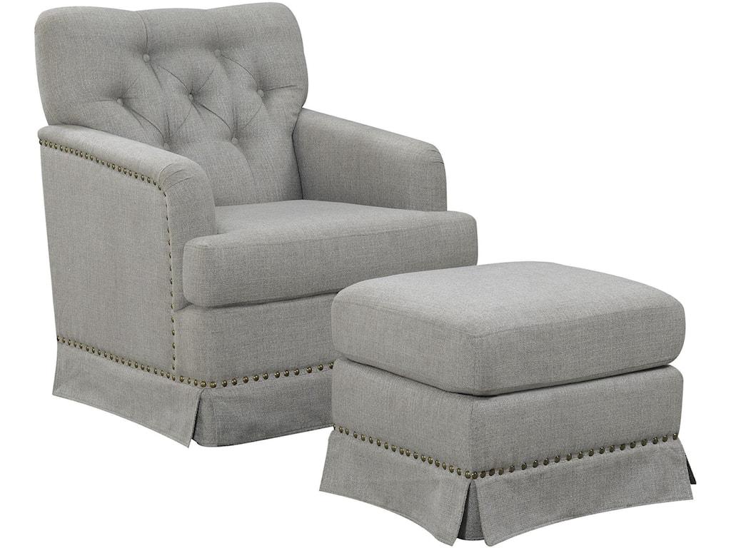 Emerald AshdaleSwivel Glider Chair and Ottoman Set