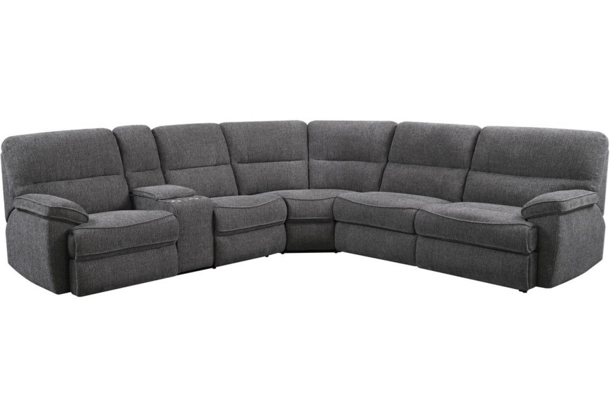 Emerald Aurora 4-Seat Power Reclining Sectional Sofa with ...