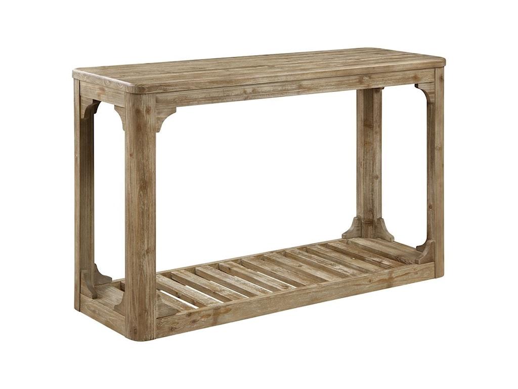 Emerald BarnwoodSofa Table W/Bottom Slat Shelf