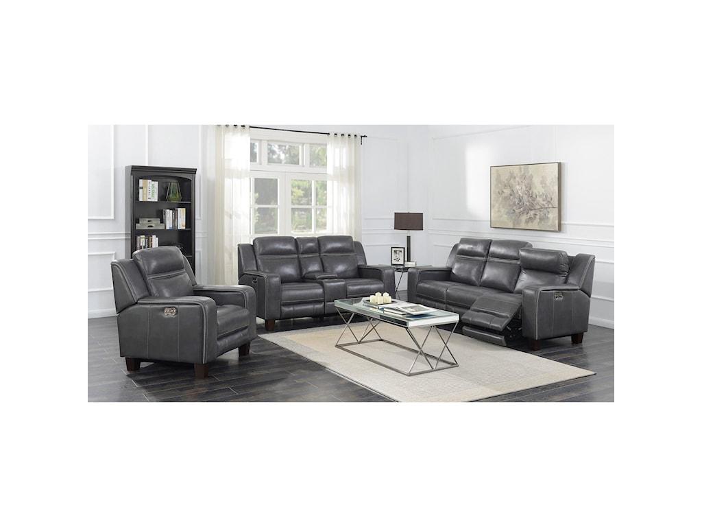 Emerald BeckettPower Sofa W/2 Power Headrests