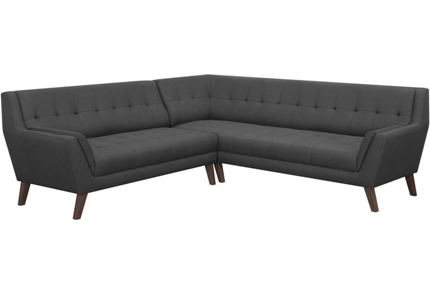 Binetti Mid-Century Modern Sectional by Emerald at Wilson\'s Furniture