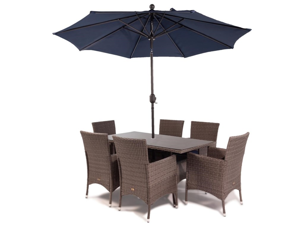 Emerald Blue Bayou8PC Outdoor Dining Set