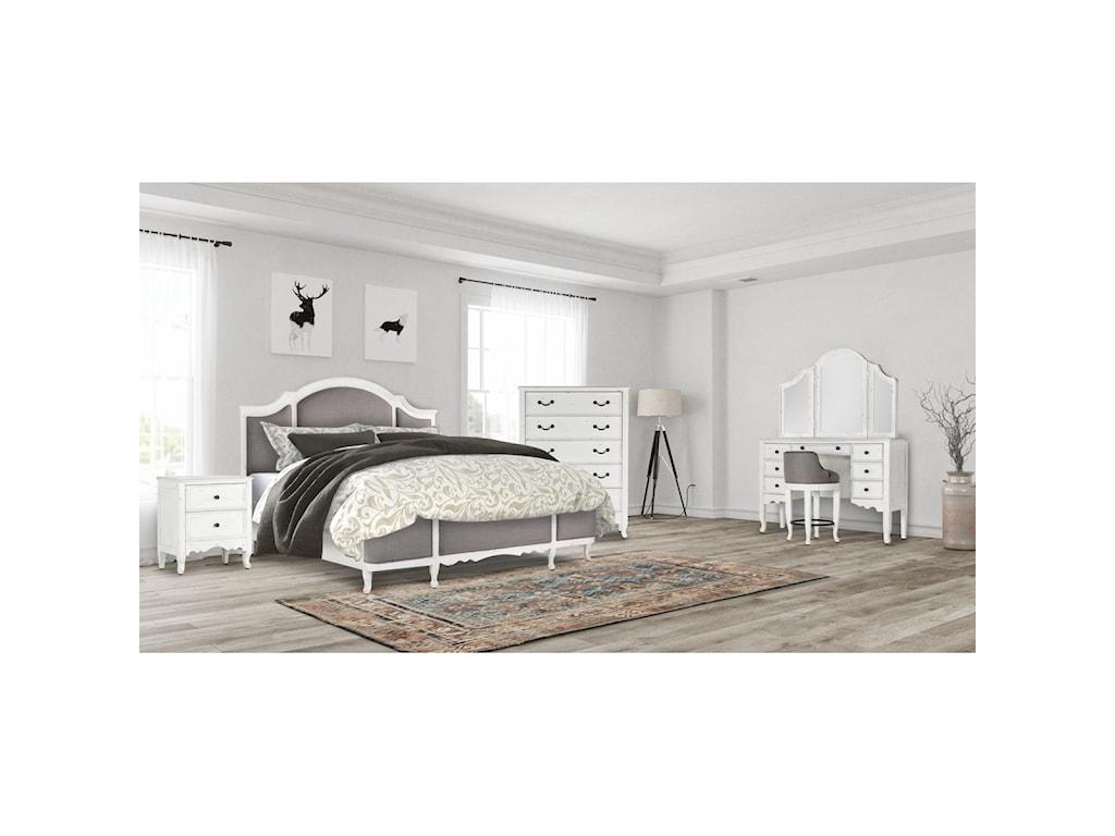 Emerald BordeauxQueen Upholstered Bed