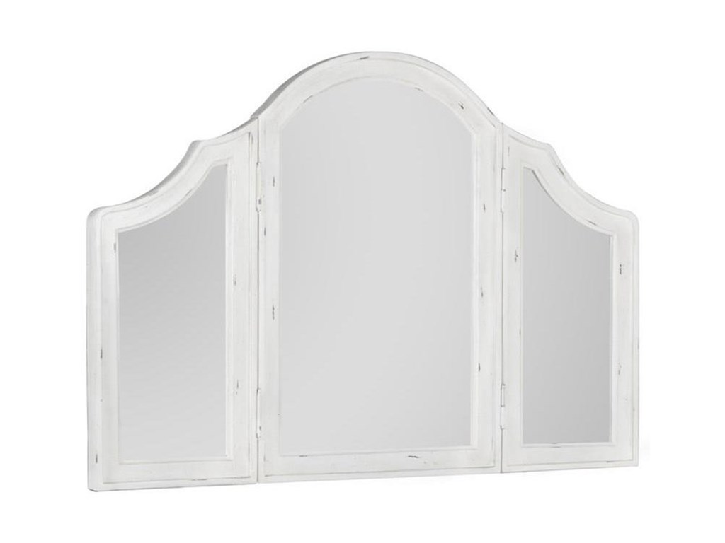 Emerald BordeauxTrifold Mirror For Dressing Table