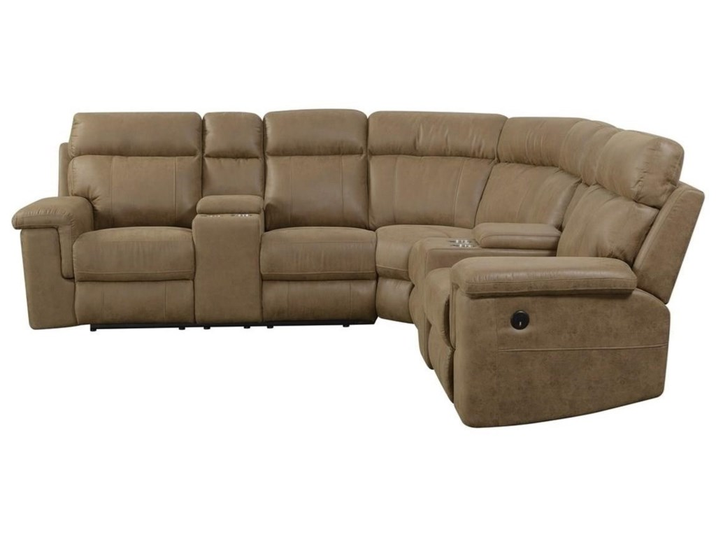 Emerald Braydon4-Seat Power Reclining Sectional Sofa