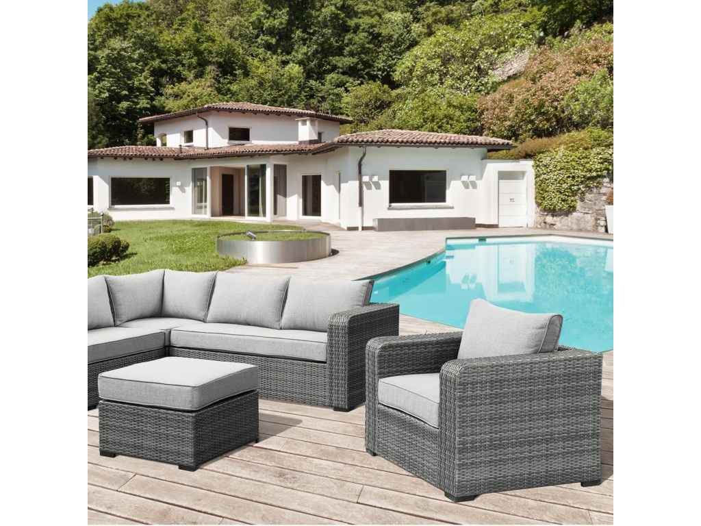 Emerald BrunswickLounge Chair  & Ottoman Set