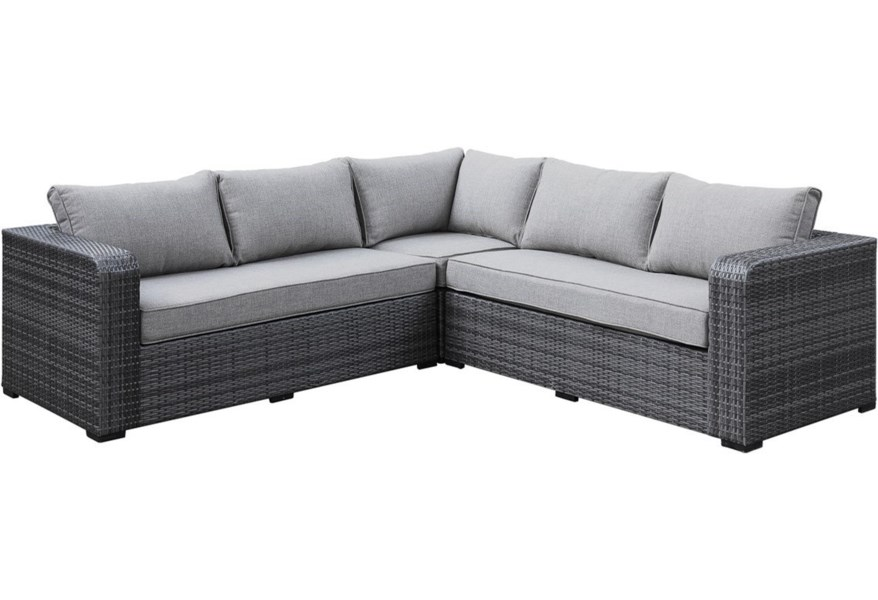 Emerald Brunswick 4-Seat Synthetic Wicker Outdoor Sectional ...