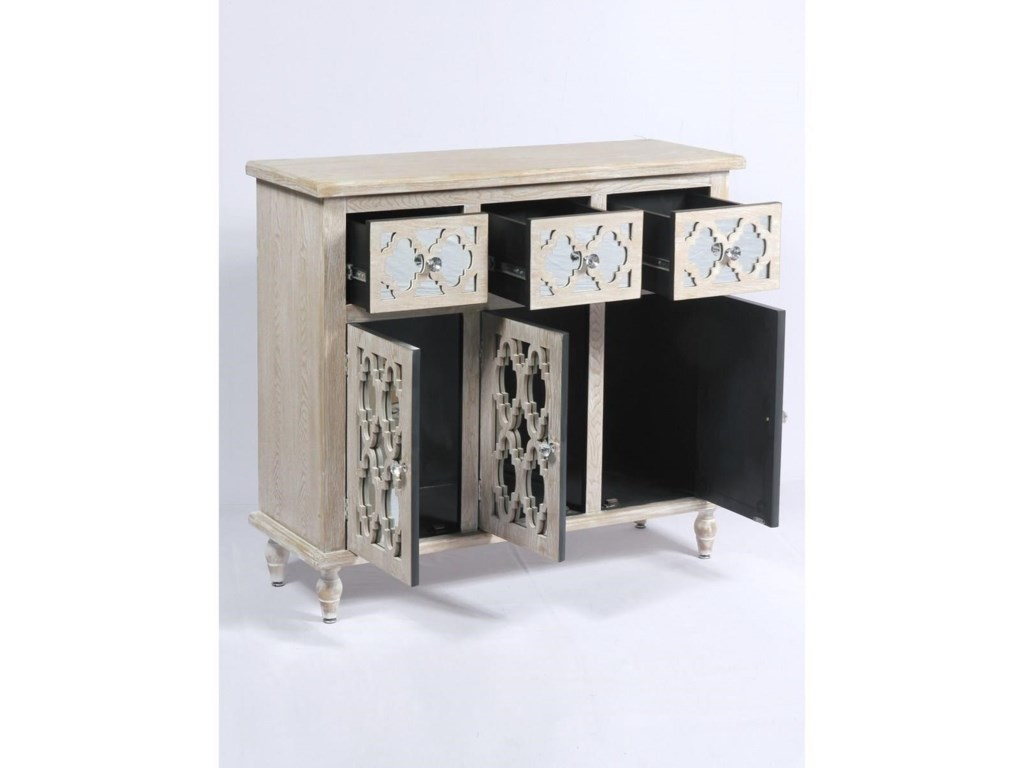 Emerald Canterwood3 Drawer 3 Door Accent Chest