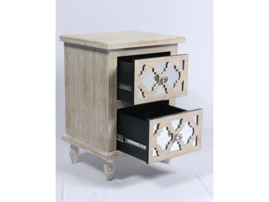Emerald Canterwood2 Drawer Accent Table