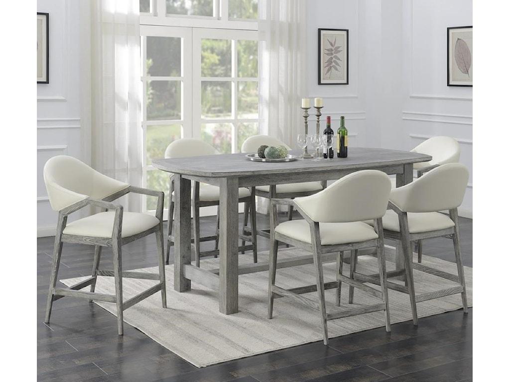 Emerald Carrera7-Piece Counter Height Dining Set