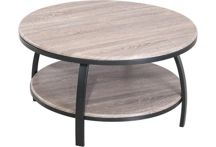 Emerald Carson T226 00 03 Contemporary 35 Round Coffee Table Northeast Factory Direct Cocktail Coffee Tables