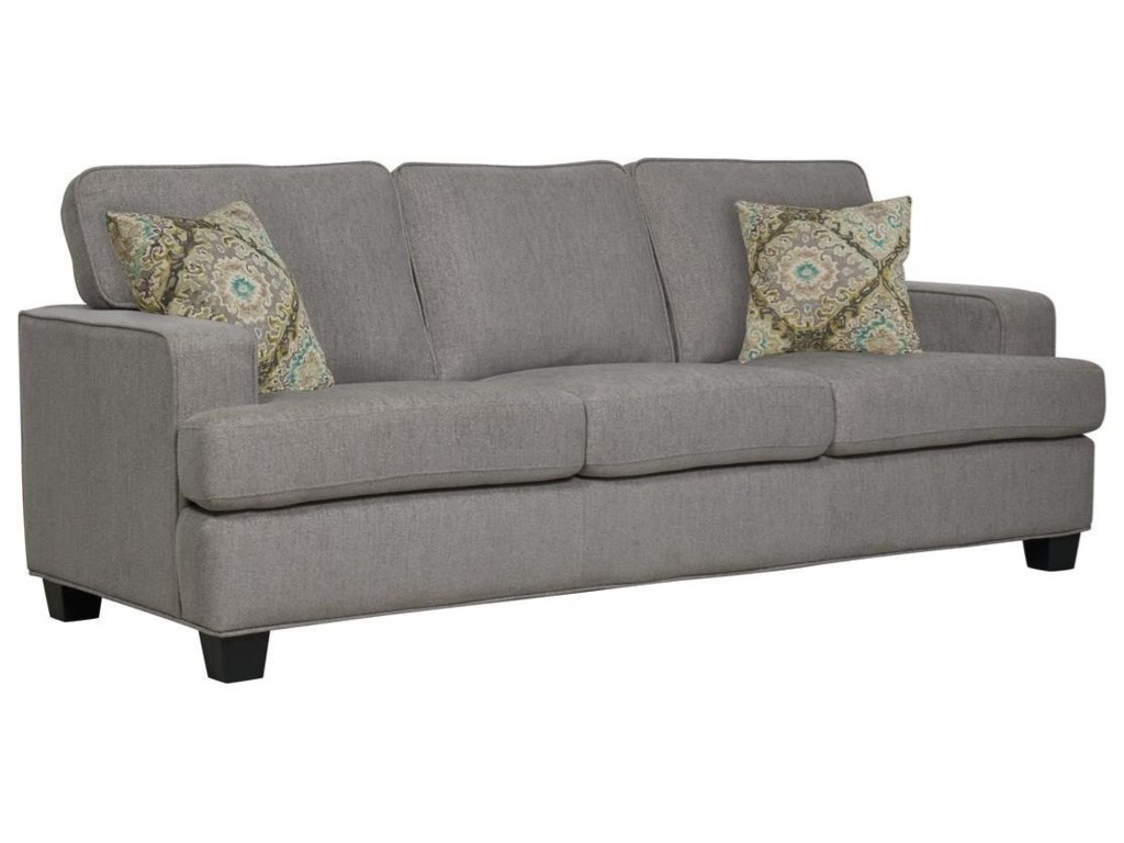 Emerald CarterSofa W/2 Accent Pillows