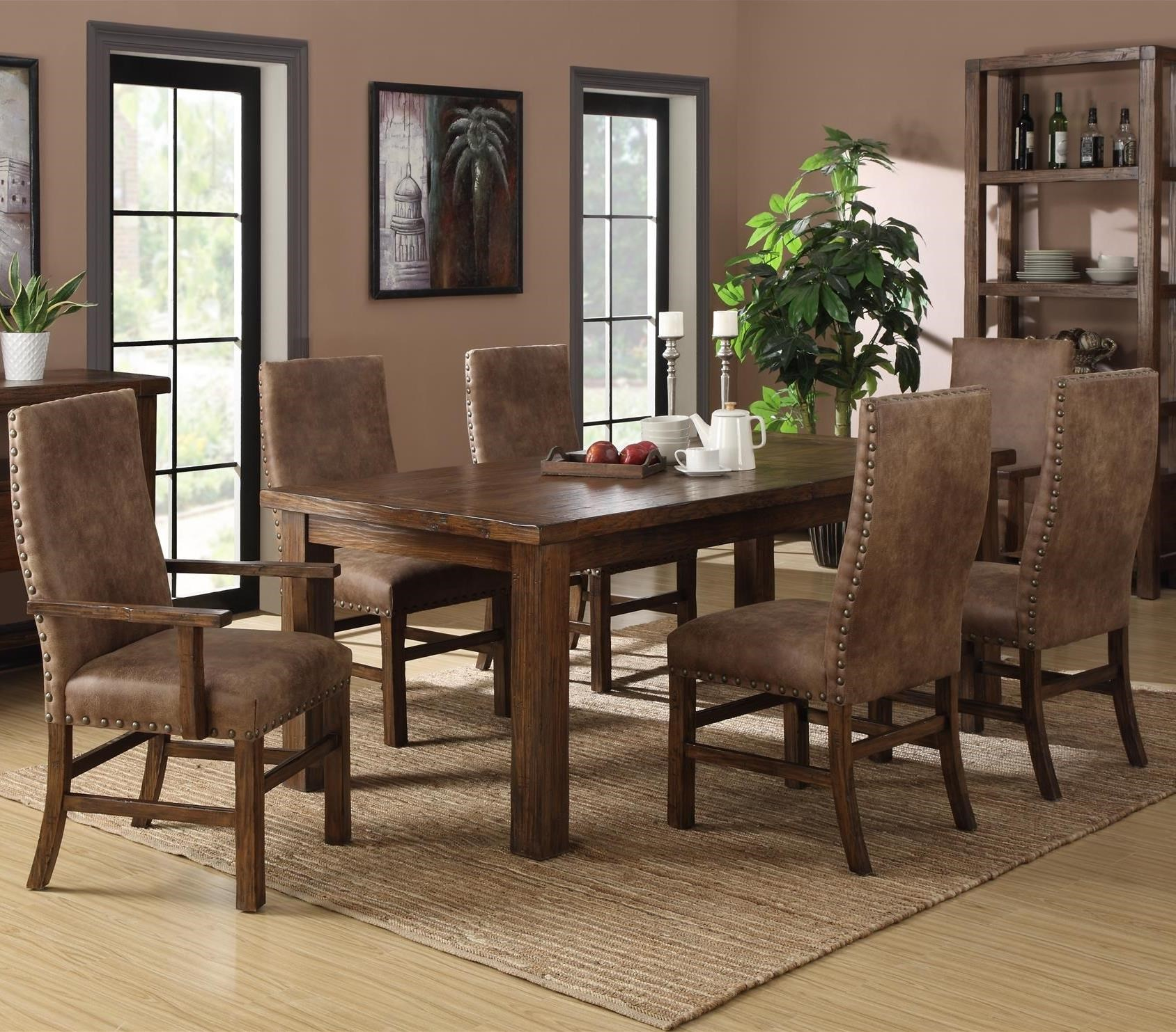 Charming Emerald Chambers Creek 7 Piece Dining Set With Upholstered Chairs